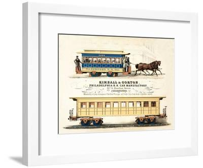 Advertisement for Kimball and Gorton, Philadelphia R.R. Car Manufactory, Published C.1857--Framed Giclee Print