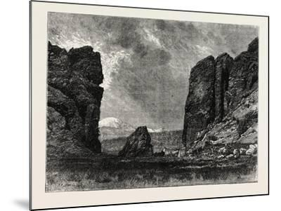 View in Colorado: the Gate of the Garden of the Gods, USA, 1870S--Mounted Giclee Print