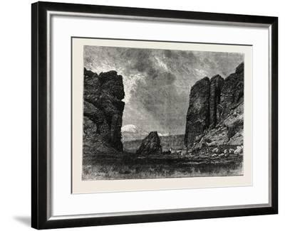 View in Colorado: the Gate of the Garden of the Gods, USA, 1870S--Framed Giclee Print