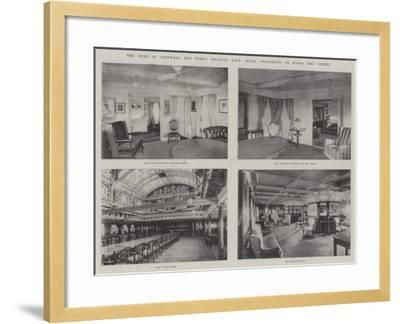 The Duke of Cornwall and York's Colonial Tour, Royal Apartments on Board the Ophir--Framed Giclee Print