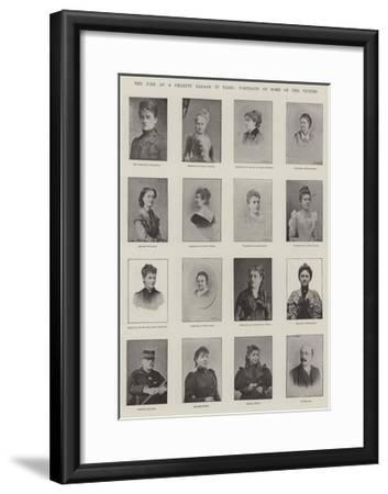 The Fire at a Charity Bazaar in Paris, Portraits of Some of the Victims--Framed Giclee Print