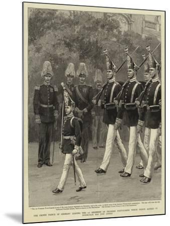 The Crown Prince of Germany Leading the 1st Regiment of Prussian Foot-Guards Which Prince Alfred of--Mounted Giclee Print
