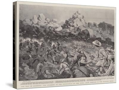 The War in Rhodesia, the Storming of the Stronghold of the Rebel Chief Babyaan in the Matoppo Hills--Stretched Canvas Print