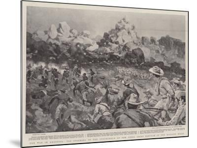 The War in Rhodesia, the Storming of the Stronghold of the Rebel Chief Babyaan in the Matoppo Hills--Mounted Giclee Print