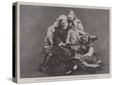 The Queen and Her Infant Grandchildren, the Families of the Prince of Wales and the Princess Royal--Stretched Canvas Print