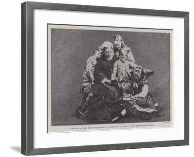 The Queen and Her Infant Grandchildren, the Families of the Prince of Wales and the Princess Royal--Framed Giclee Print