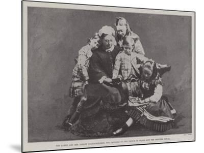 The Queen and Her Infant Grandchildren, the Families of the Prince of Wales and the Princess Royal--Mounted Giclee Print