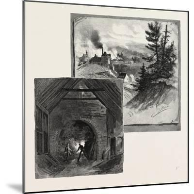 French Canadian Life, St. Maurice Forges, Canada, Nineteenth Century--Mounted Giclee Print