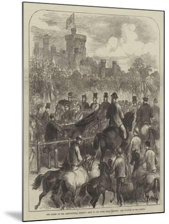 The Queen at the Agricultural Society's Show in the Home Park, Windsor, the Judging of the Horses--Mounted Giclee Print