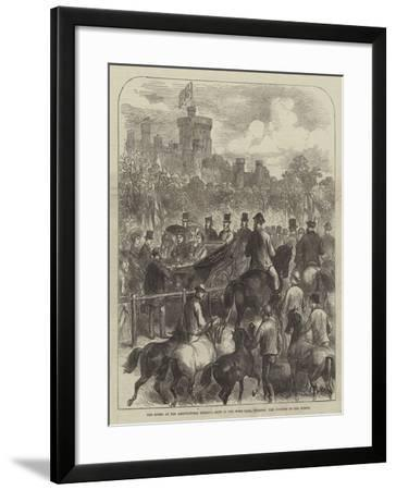 The Queen at the Agricultural Society's Show in the Home Park, Windsor, the Judging of the Horses--Framed Giclee Print
