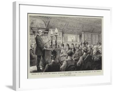 Meeting of the British and American Archaeological Society at Rome under the Presidency of the Marq--Framed Giclee Print