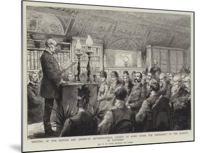 Meeting of the British and American Archaeological Society at Rome under the Presidency of the Marq--Mounted Giclee Print
