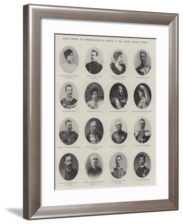 Royal Visitors and Representatives of Royalty at the Queen's Diamond Jubilee--Framed Giclee Print
