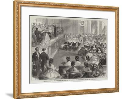 Amateur Concert at the Hanover-Square Rooms for the Benefit of the British Asylum for Deaf and Dumb--Framed Giclee Print