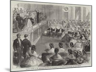 Amateur Concert at the Hanover-Square Rooms for the Benefit of the British Asylum for Deaf and Dumb--Mounted Giclee Print