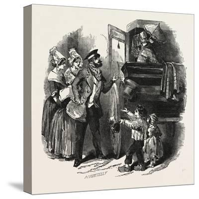 The End of the Season, 1846, Off to Paris: Courier and Travelling Carriage--Stretched Canvas Print