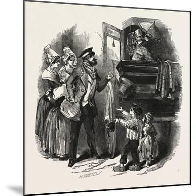 The End of the Season, 1846, Off to Paris: Courier and Travelling Carriage--Mounted Giclee Print
