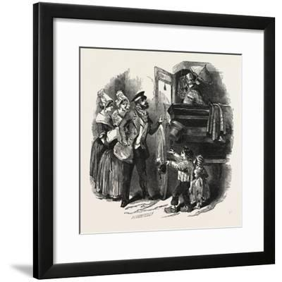The End of the Season, 1846, Off to Paris: Courier and Travelling Carriage--Framed Giclee Print
