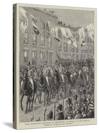 Lord Hopetoun's Reception at Melbourne, Australia, on His Arrival There as Governor of Victoria--Stretched Canvas Print