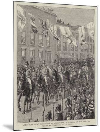 Lord Hopetoun's Reception at Melbourne, Australia, on His Arrival There as Governor of Victoria--Mounted Giclee Print