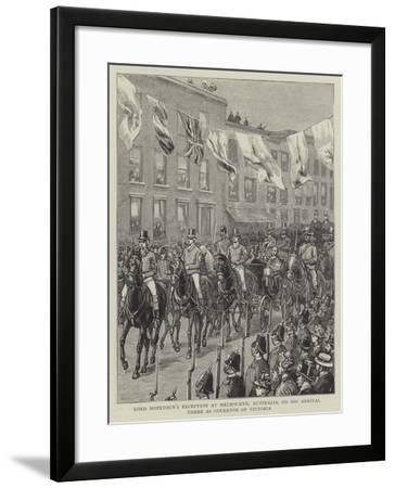 Lord Hopetoun's Reception at Melbourne, Australia, on His Arrival There as Governor of Victoria--Framed Giclee Print