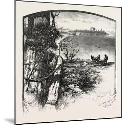 The Upper Ottawa, Timber Boom, Fitzroy Harbour, Canada, Nineteenth Century--Mounted Giclee Print