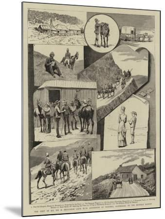 The Visit of H E Sir H Brougham Loch, Kcb (Governor of Victoria, Australia), to the Buffalo Ranges--Mounted Giclee Print