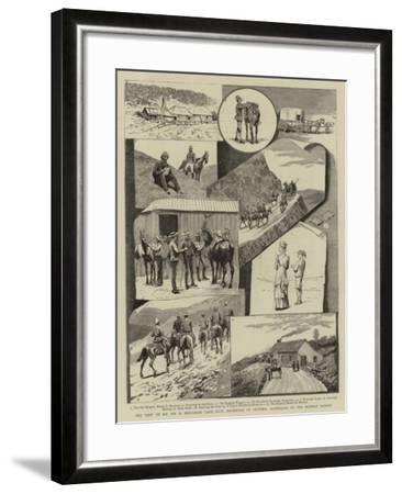 The Visit of H E Sir H Brougham Loch, Kcb (Governor of Victoria, Australia), to the Buffalo Ranges--Framed Giclee Print
