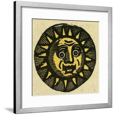 Illustration of English Tales Folk Tales and Ballads. the Face of the Sun--Framed Giclee Print