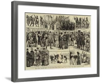 The Fancy Costume Ball of the Savage Club at the Albert Hall in Aid of the Royal College of Music--Framed Giclee Print