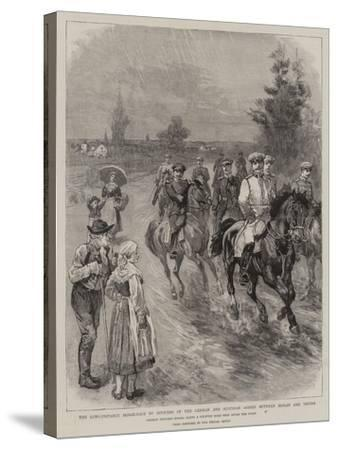 The Long-Distance Horse-Race by Officers of the German and Austrian Armies Between Berlin and Vienn--Stretched Canvas Print