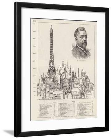 The Eiffel Tower at the Paris Exhibition as Compared with Some of the Highest Buildings in the Worl--Framed Giclee Print