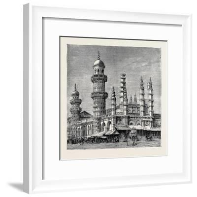 The Viceroy of India's Visit to Rangoon, British Burma: Mahomedan Mosque--Framed Giclee Print