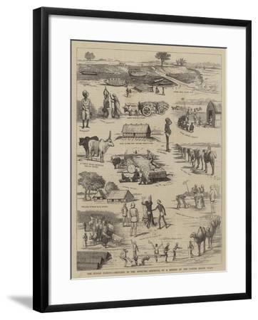 The Indian Famine, Sketches in the Affected Districts, by a Member of the Famine Relief Staff--Framed Giclee Print