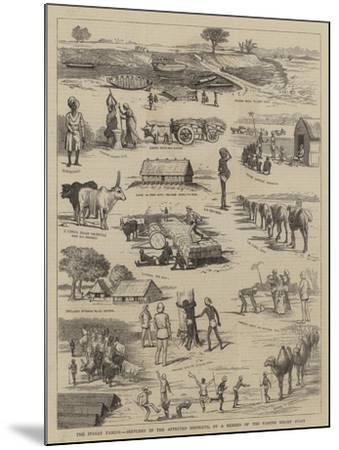 The Indian Famine, Sketches in the Affected Districts, by a Member of the Famine Relief Staff--Mounted Giclee Print