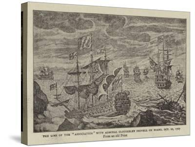 The Loss of the Association with Admiral Cloudesley Shovell on Board, 22 October 1707--Stretched Canvas Print