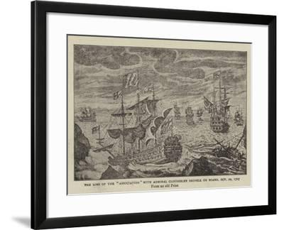 The Loss of the Association with Admiral Cloudesley Shovell on Board, 22 October 1707--Framed Giclee Print