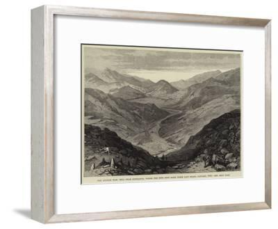 The Afghan War, Hill Near Gundamuk, Where the 44th Foot Made their Last Stand, January 1842--Framed Giclee Print