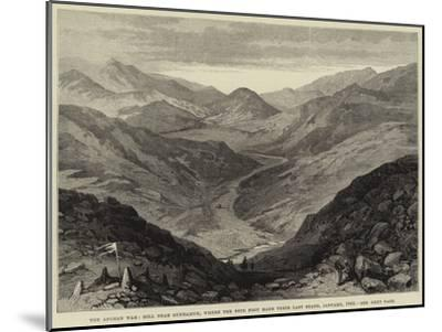 The Afghan War, Hill Near Gundamuk, Where the 44th Foot Made their Last Stand, January 1842--Mounted Giclee Print
