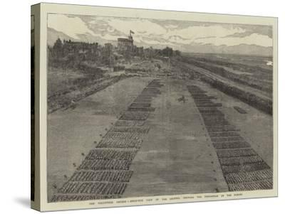 The Volunteer Review, Birds'-Eye View of the Ground, Showing the Disposition of the Forces--Stretched Canvas Print