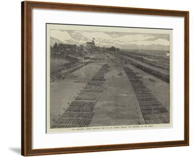 The Volunteer Review, Birds'-Eye View of the Ground, Showing the Disposition of the Forces--Framed Giclee Print