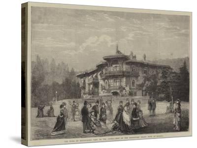 The Duke of Edinburgh's Visit to the Crimea, Seat of the Hereditary Grand Duke at Livadia--Stretched Canvas Print