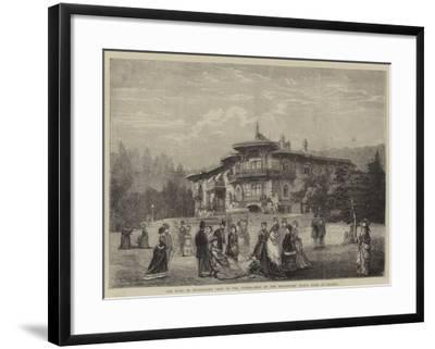 The Duke of Edinburgh's Visit to the Crimea, Seat of the Hereditary Grand Duke at Livadia--Framed Giclee Print