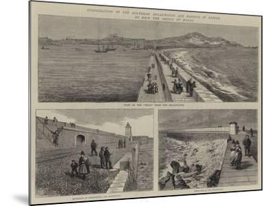 Inauguration of the Holyhead Breakwater and Harbour of Refuge by Hrh the Prince of Wales--Mounted Giclee Print