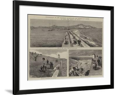 Inauguration of the Holyhead Breakwater and Harbour of Refuge by Hrh the Prince of Wales--Framed Giclee Print