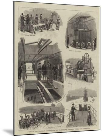 A Visit to the Telegraph Construction and Maintenance Company's Works, East Greenwich--Mounted Giclee Print