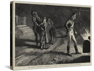 The Romantic Adventures of a Milkmaid, Jim Stopped at the Kiln, While Mrs Peach Held the Horse--Stretched Canvas Print