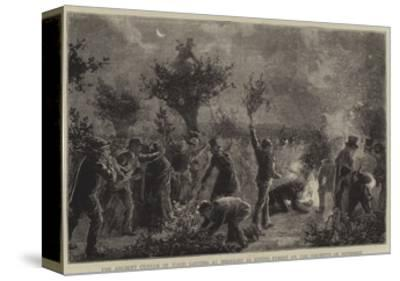 The Ancient Custom of Wood Lopping at Midnight in Epping Forest on the Eleventh of November--Stretched Canvas Print