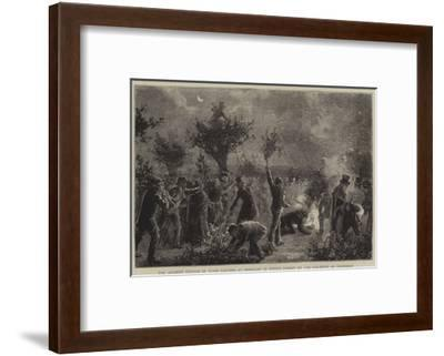The Ancient Custom of Wood Lopping at Midnight in Epping Forest on the Eleventh of November--Framed Giclee Print