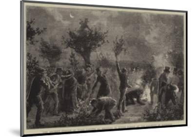 The Ancient Custom of Wood Lopping at Midnight in Epping Forest on the Eleventh of November--Mounted Giclee Print